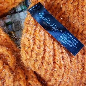 Charlie Paige Accessories - NWT Ear Warmer Headband in a Chunky Orange Knit